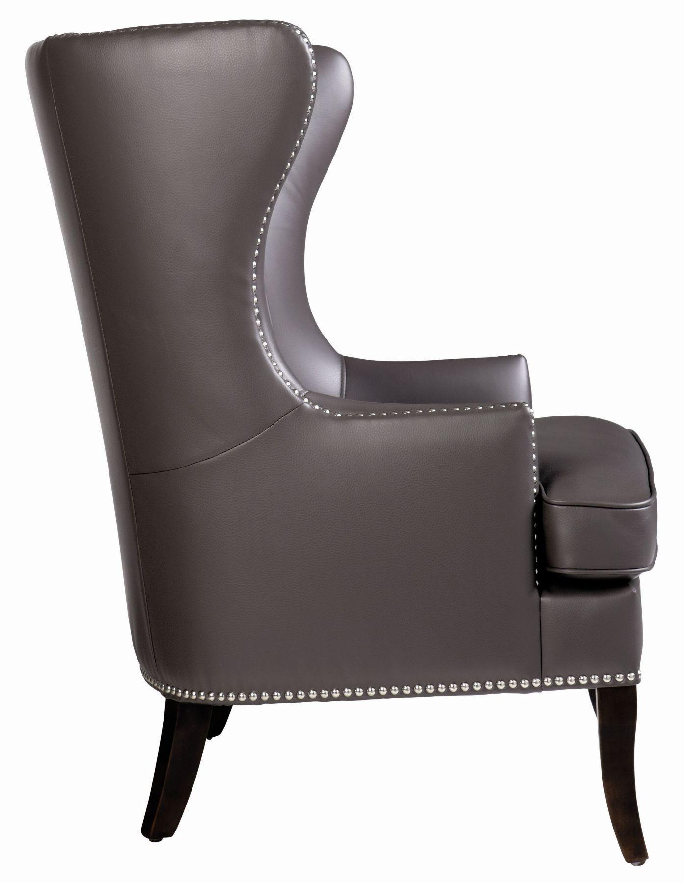 grey arm chair hollywood regency royalton from sunpan 31048 coleman