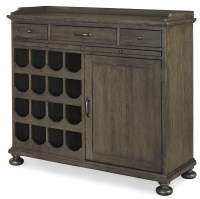 Berkeley3 Brownstone Small Wine Cabinet from Universal ...