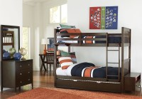 Pulse Chocolate Youth Bunk Bedroom Set With Trundle from ...