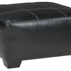 Black Oversized Chair Standard Dining Height Kumasi Accent Ottoman 3220208 Ashley