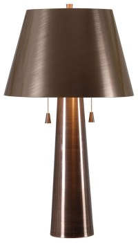 Biblio Antique Copper Table Lamp, 32568ANCP, Kenroy Home