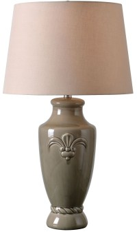 Crackle Taupe Table Lamp, 32836TP, Kenroy Home