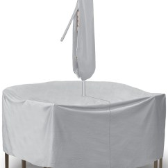 Grey Patio Chair Covers Office Nz Gray 60 Quot 7 Piece Dining Set Cover Without Umbrella Hole