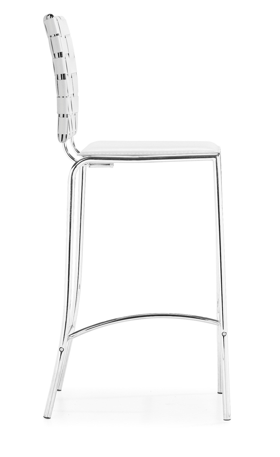Criss Cross Counter Chair White Set Of 2 From Zuo Mod