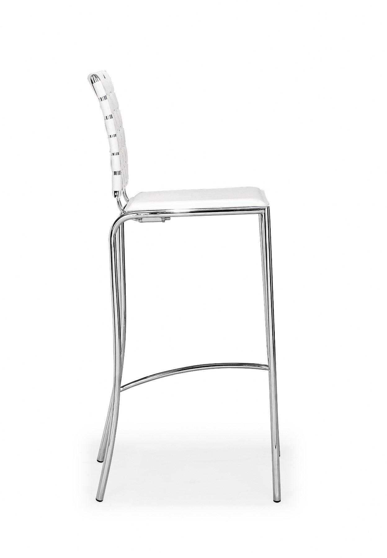 Criss Cross Bar Chair White Set Of 2 From Zuo Mod