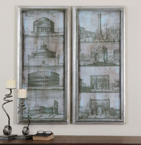 Architectural Survey Wall Art Set Of 2 35237 Uttermost
