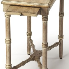 Gray Chair Side Table Chinese Wedding Skilling Driftwood Chairside From Butler Coleman