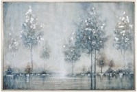 Walk In The Meadow Gray Landscape Wall Art from Uttermost