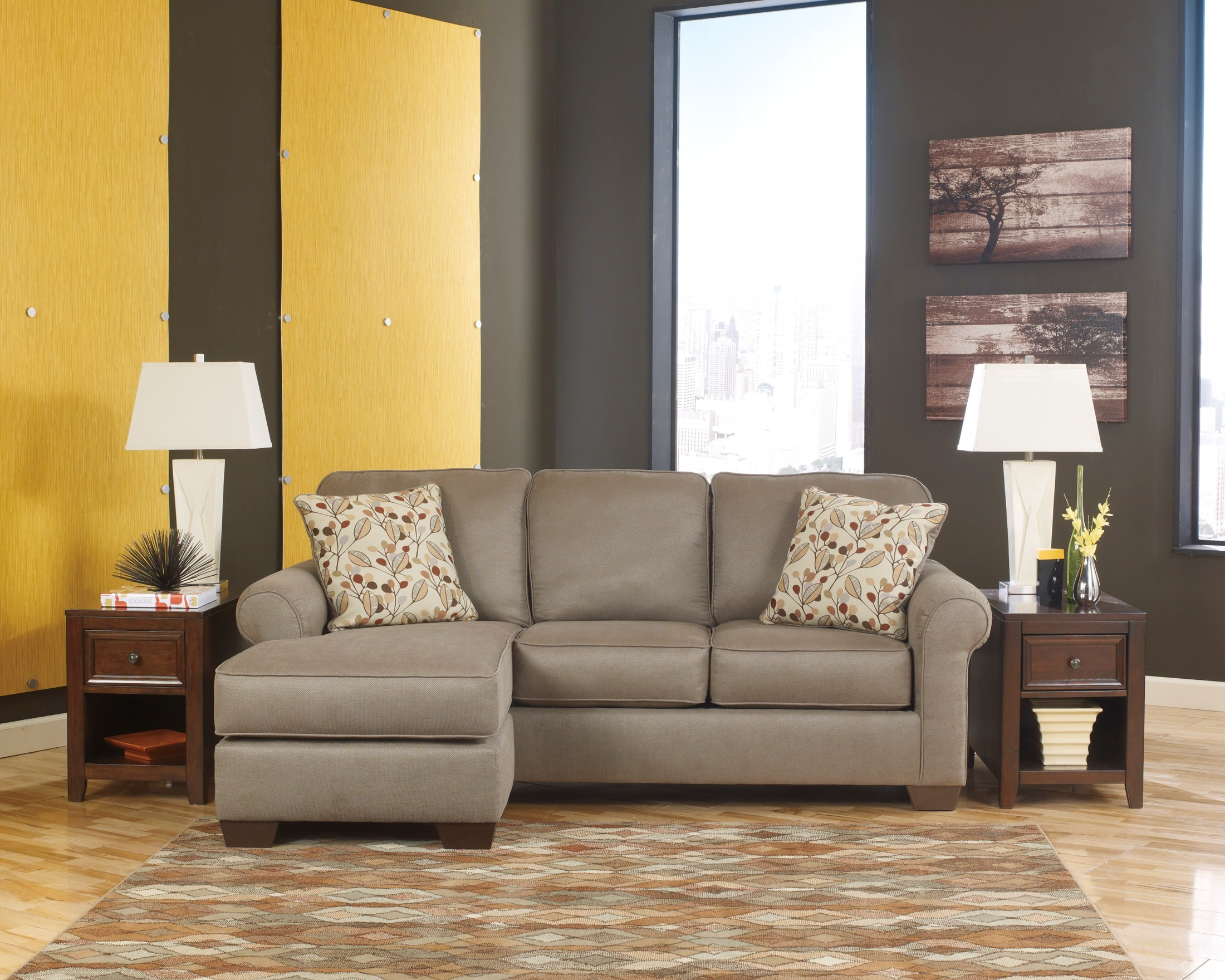 chaise sofas perth warehouse direct bayswater leather and microfiber sofa set danely dusk with from ashley 3550018