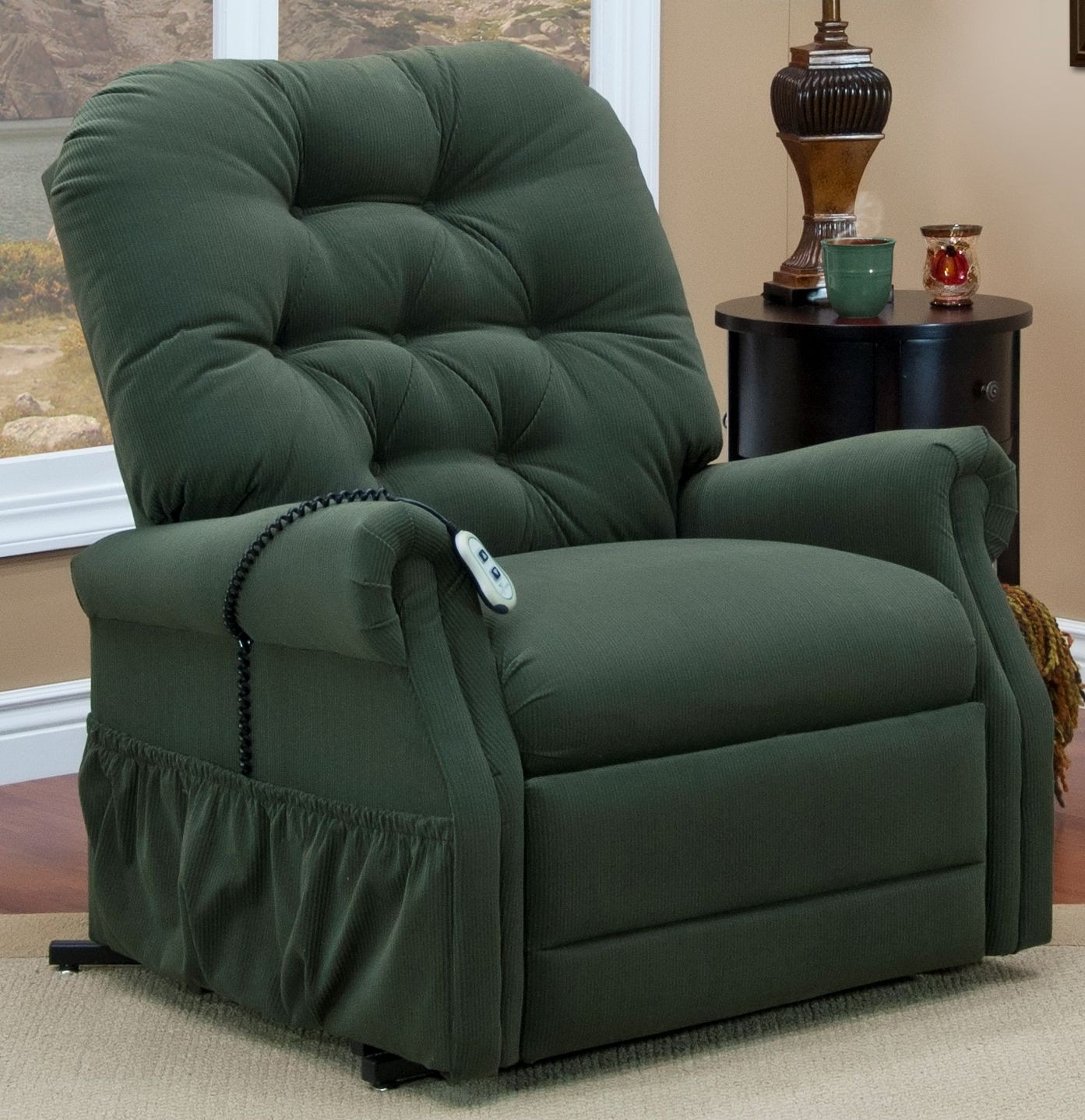 Med Lift Chairs Aaron Hunter Tufted Two Way Reclining Lift Chair From Med