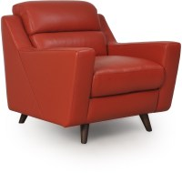 Lucia Brick Red Leather Chair from Moroni