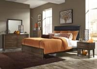 Hudson Square Espresso King Upholstered Platform Bedroom ...