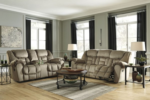 Jodoca Driftwood Reclining Living Room Set Ashley
