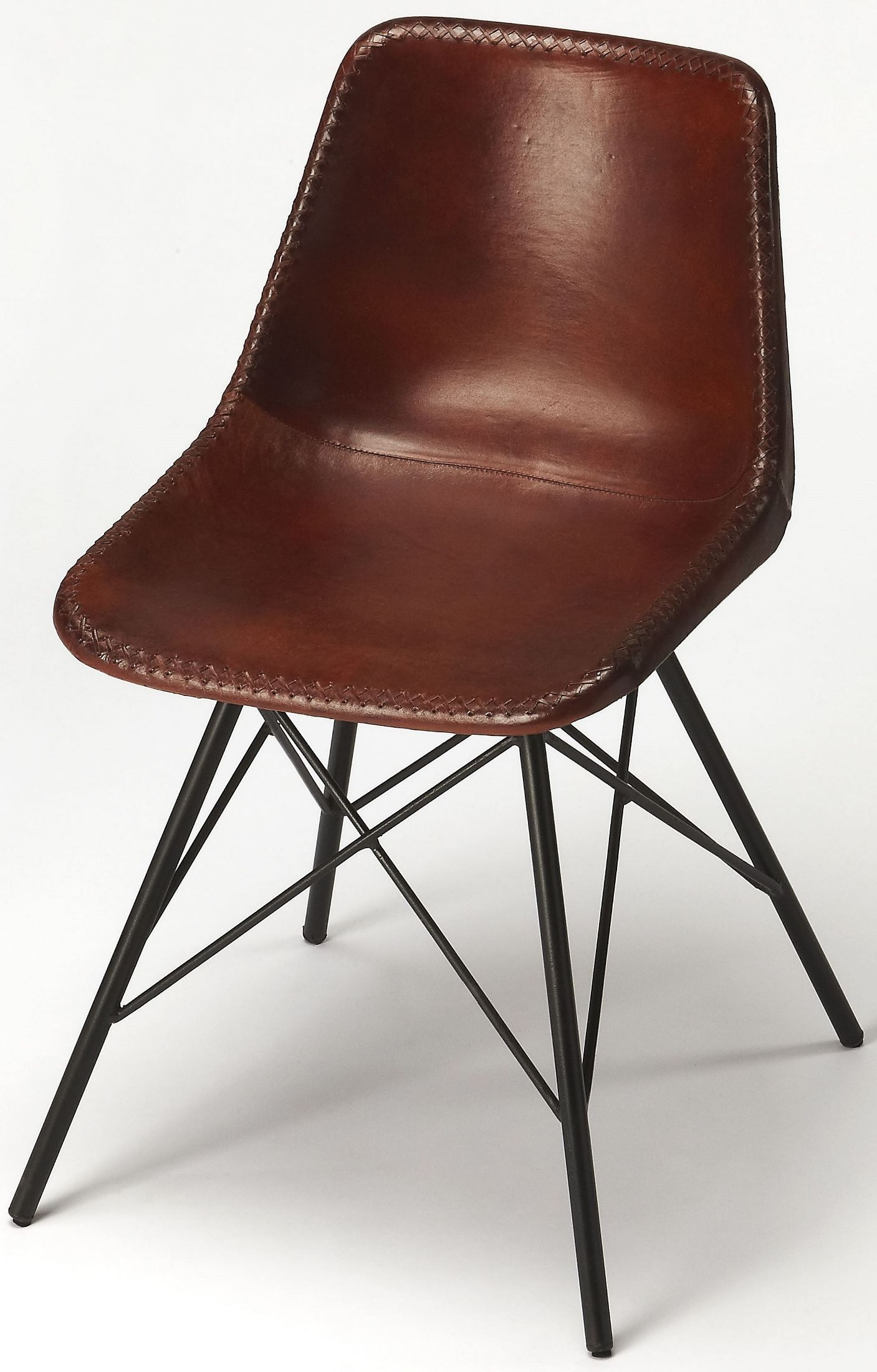 Leather Side Chair Inland Brown Leather Side Chair From Butler Coleman