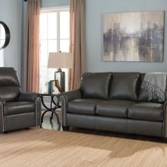 Ashley Furniture Durablend Sleeper Sofa Gray Slipcover Lottie Slate Full From