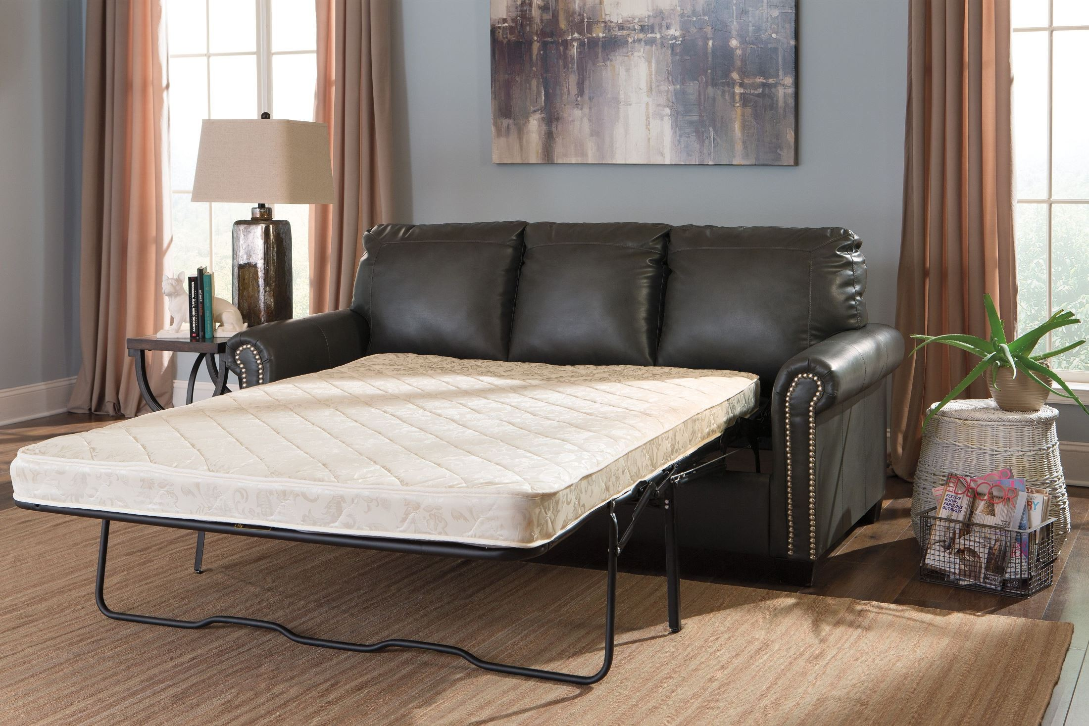 ashley furniture durablend sleeper sofa how to make a simple cover lottie slate full from