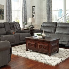 Gray Living Room Sets Austere Reclining Set From Ashley 3840181 585519