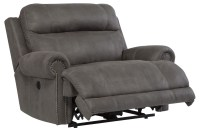 Austere Gray Zero Wall Wide Seat Power Recliner from ...