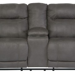 Double Sofa Recliner Little Lady Chair Workshop Austere Gray Reclining Loveseat With Console From