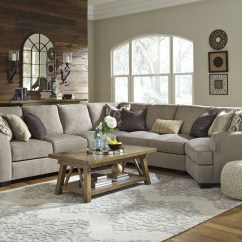 Cuddler Sectional Sofa Canada Fold Up Pantomine Driftwood Raf From Ashley