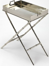 Muriel Silver Tray Table, 3948260, Butler
