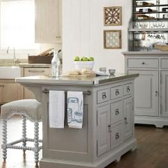 Kitchen Island Set Open Commercial Design Dogwood Cobblestone From Paula Deen 599644