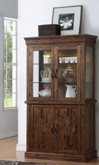 Normandy Sawn Distressed Wooden Door Curio Cabinet from ...