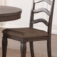 Distressed Dining Chairs Leather Task Chair Ava Ash Set Of 2 From New Classic