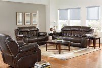 North Shore Chocolate Brown Reclining Living Room Set ...