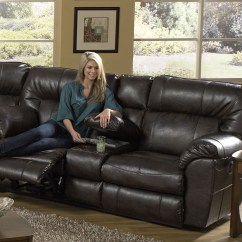 Nolan Power Reclining Sofa Leather With Storage Godiva Loveseat Console From