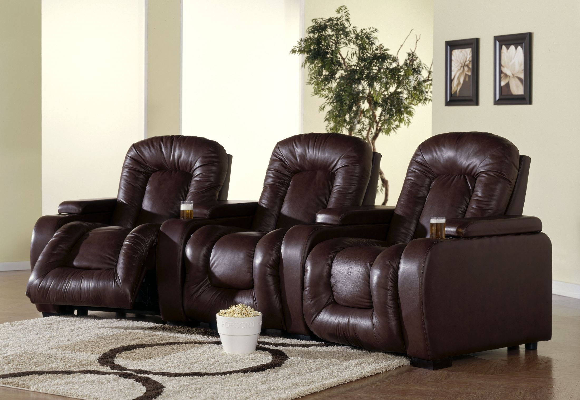 recliner chairs movie theater elegant chair covers & event decor rhumba bonded leather home theatre seating psr 41918