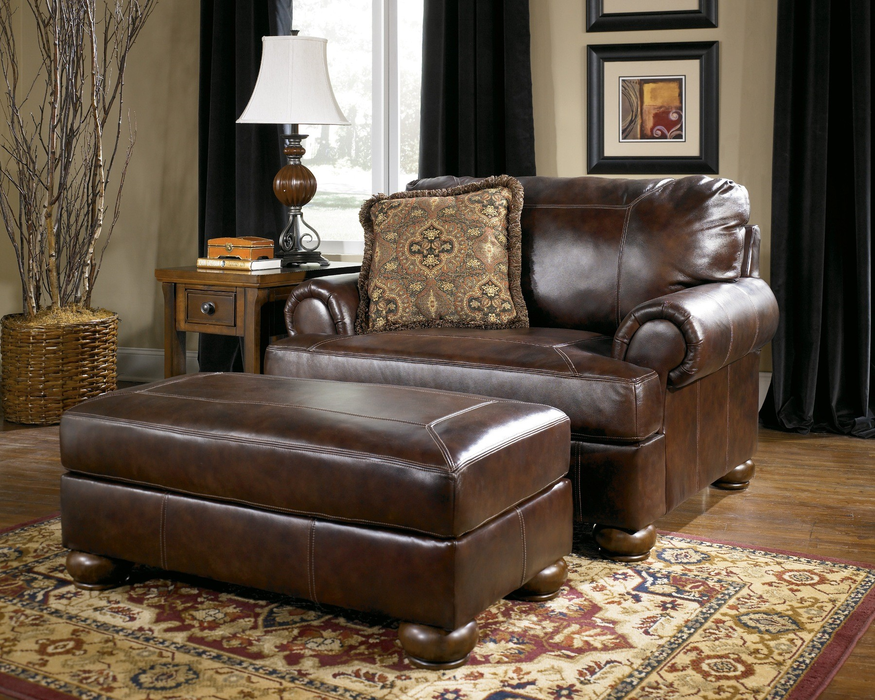 walnut furniture living room green paint for axiom set from ashley 42000 coleman 335621