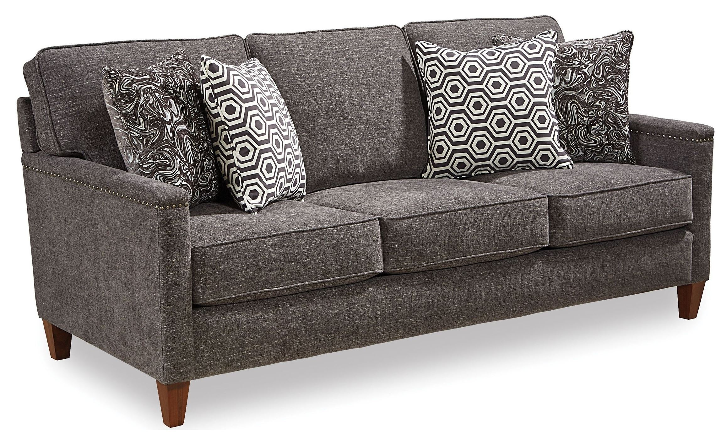leather sofa sale raleigh nc ikea queen bed lawson gray fabric 4254 3q broyhill
