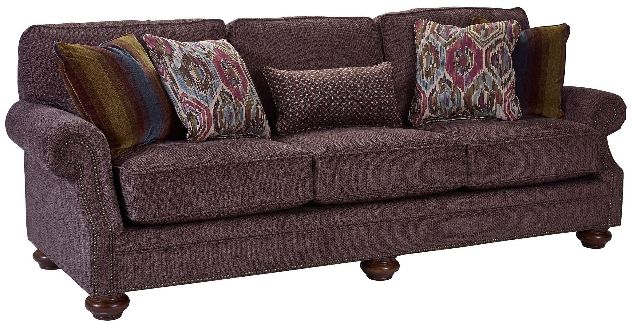 broyhill furniture sofa reviews hire a uk heuer walnut chenille fabric sofa, 4260-3q-4243-85,