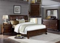 Sinclair Rustic Russet Sleigh Storage Bedroom Set, 428-BR ...