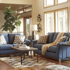 3 Piece Sofa Set For Sale King Juicy Burger Chattanooga Tn Janley Denim Loveseat From Ashley   Coleman Furniture