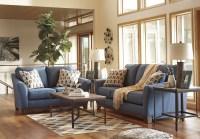 Janley Denim Loveseat from Ashley | Coleman Furniture