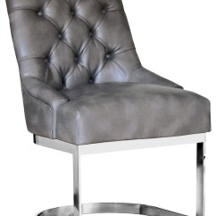Grey Dining Chairs Swivel Bar With Backs Hoxton Chair Leather In Nobility From Sunpan