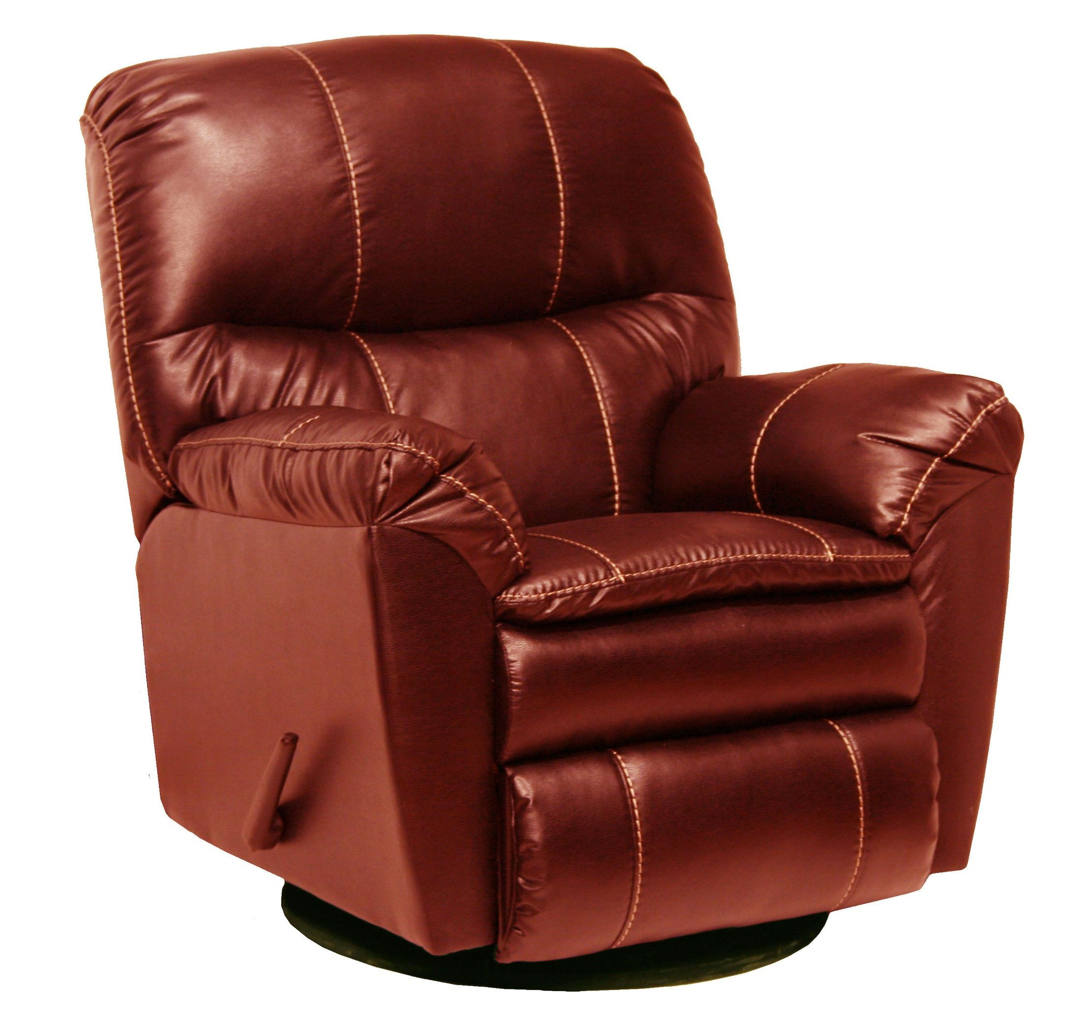 leather swivel chair plastic stool design cosmo red glider recliner from catnapper