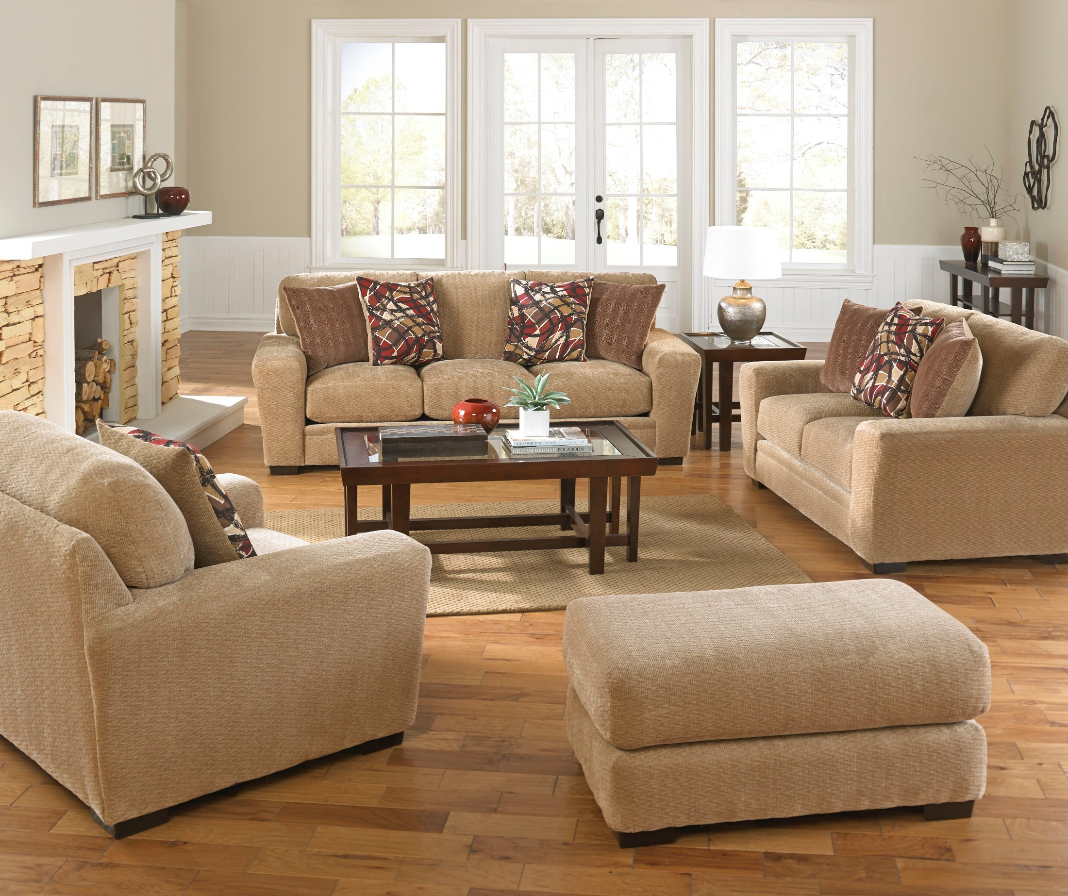 oatmeal sofa set slipcovers for sofas without removable cushions prescott and brick living room from jackson