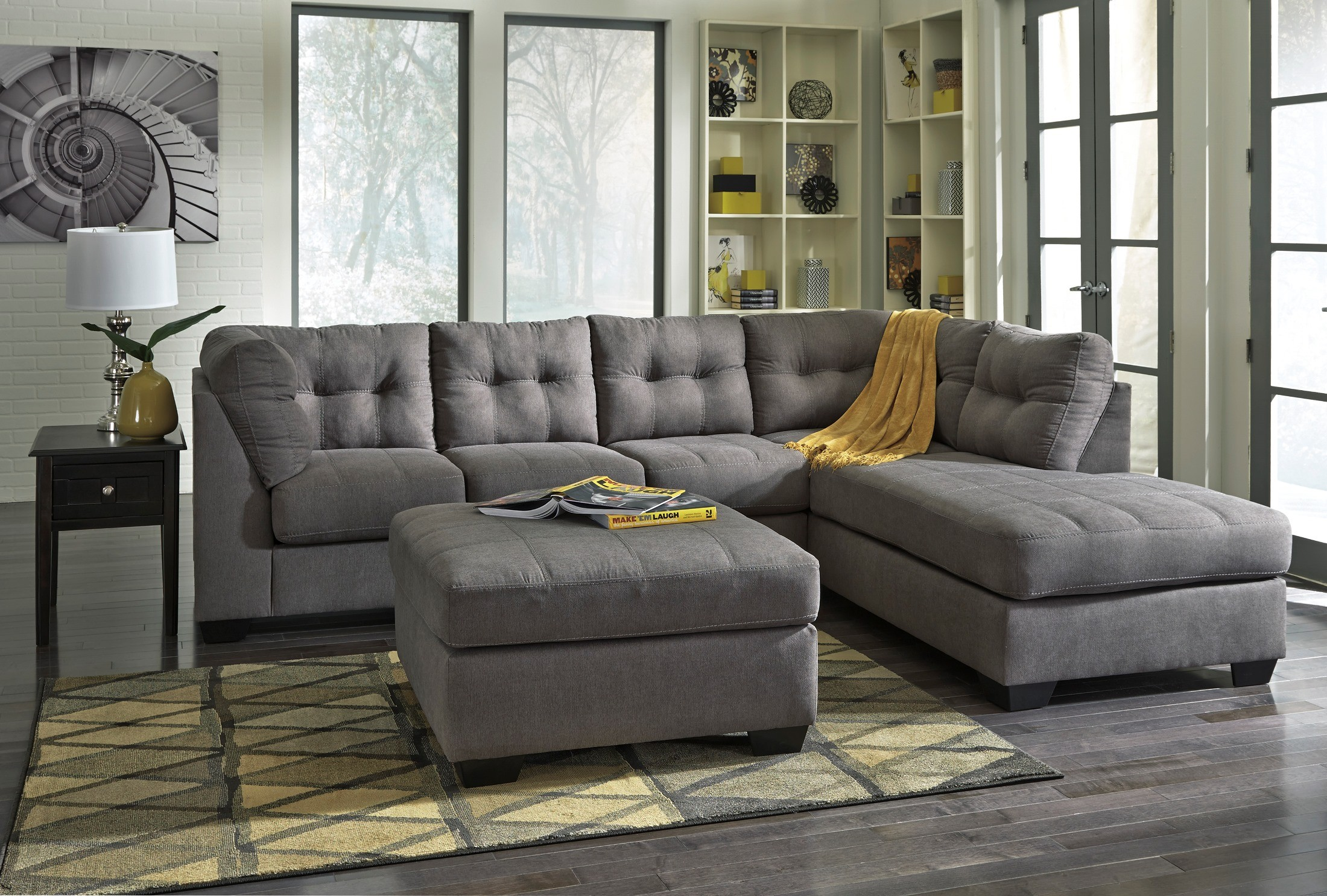 left arm sofa sectional barbie diy maier charcoal raf from ashley (45200-17-66 ...