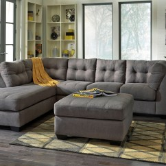 Cloud 2 Sectional Sofa Ll Bean Sleeper Maier Charcoal Laf From Ashley (45200-16-67 ...