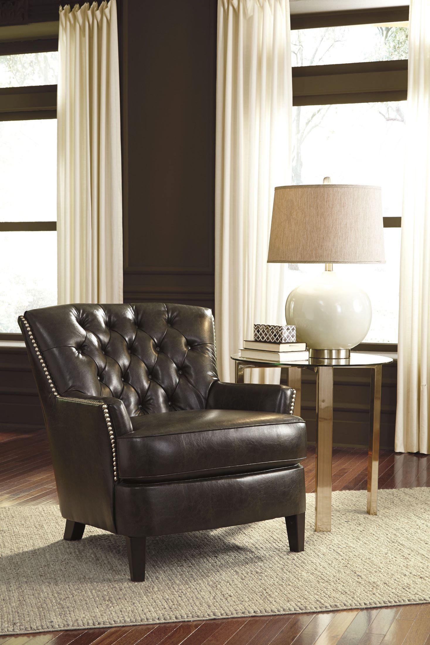 black accent chair gathering table and chairs jonette from ashley 4610122 coleman
