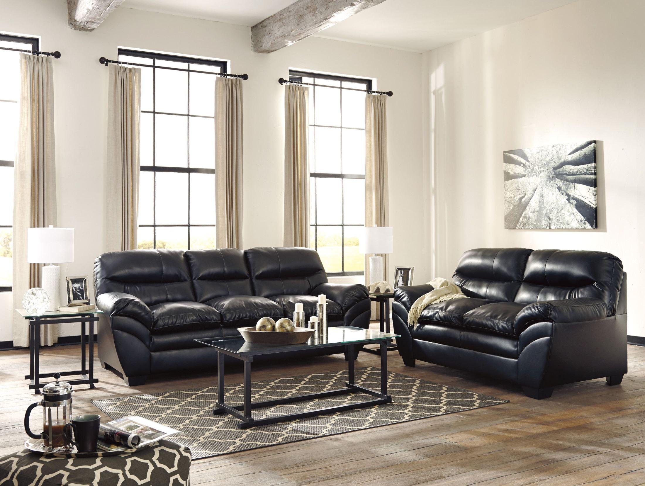Tassler Durablend Black Living Room Set from Ashley