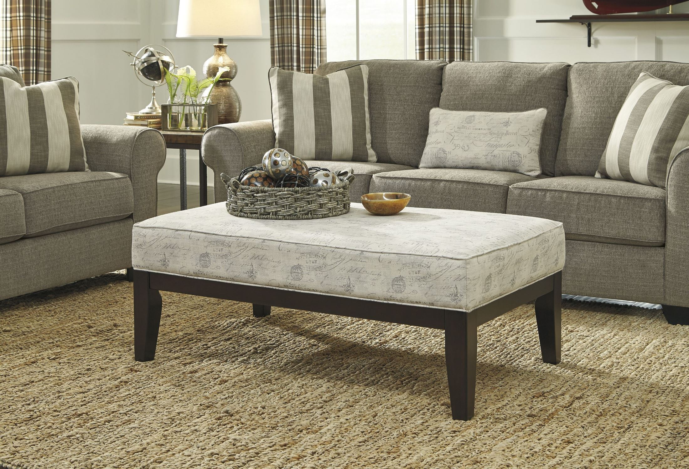 Gray Oversized Chair Baveria Gray Oversized Accent Ottoman From Ashley 4760008