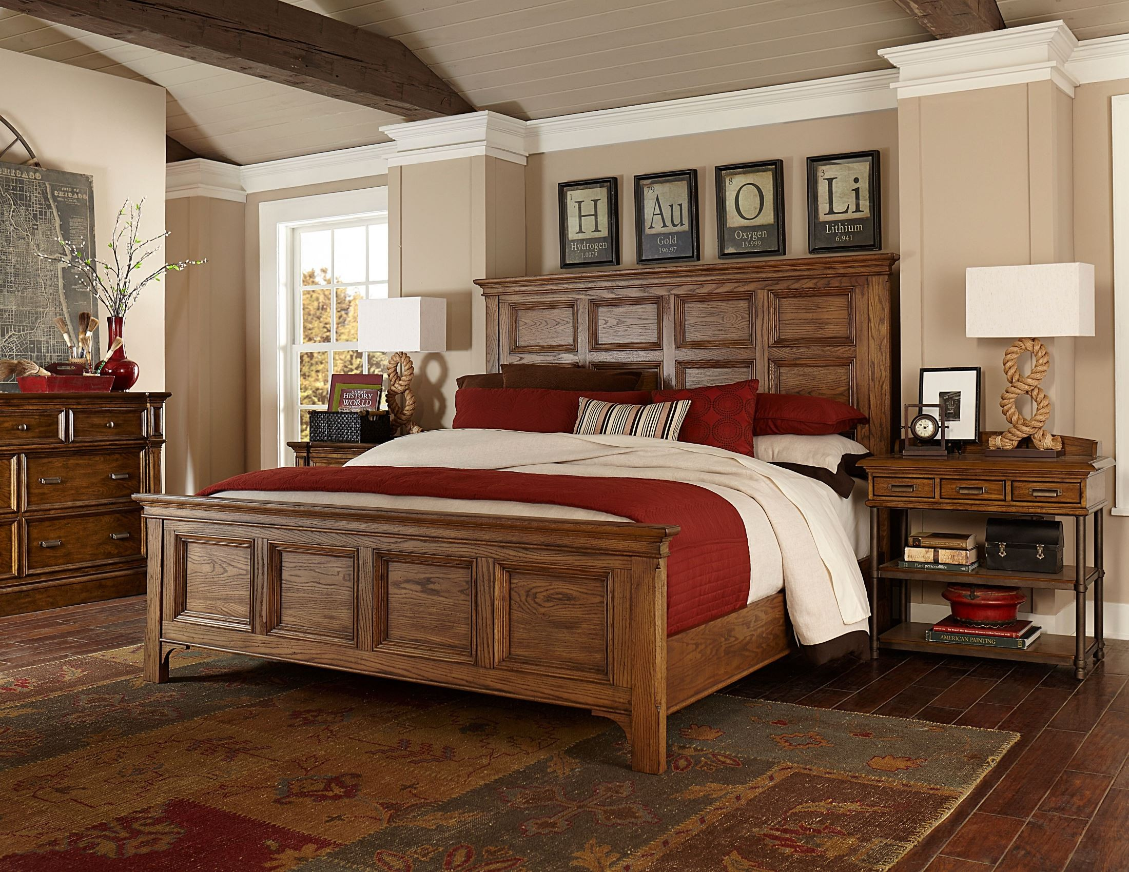 New Vintage Brown Panel Bedroom Set from Broyhill 4808