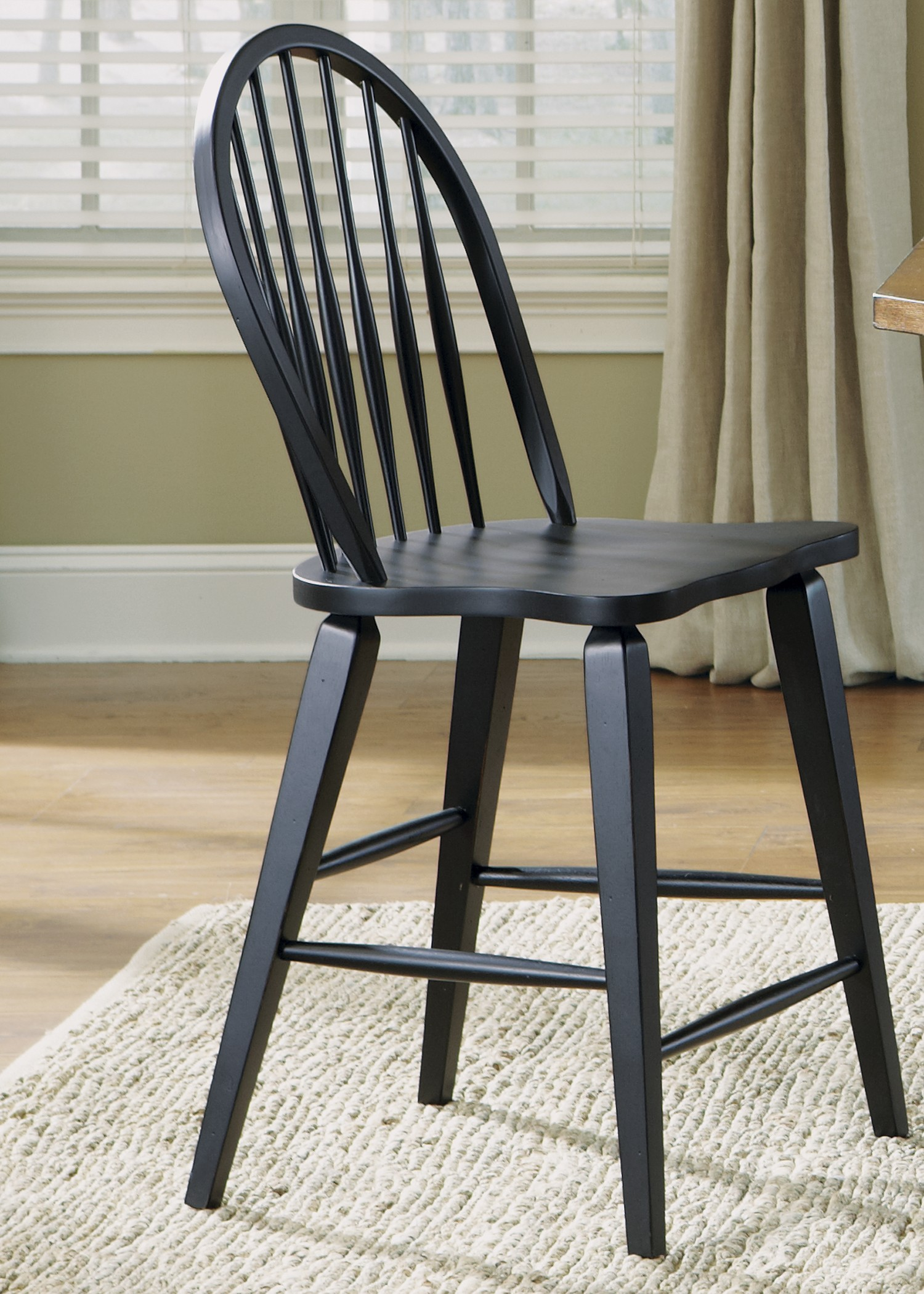 Black Windsor Chair Hearthstone Black Windsor Back Counter Chair From Liberty