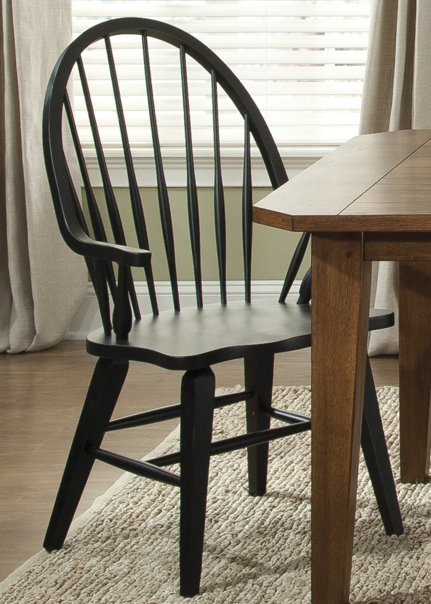 Hearthstone Black Windsor Back Arm Chair from Liberty 482
