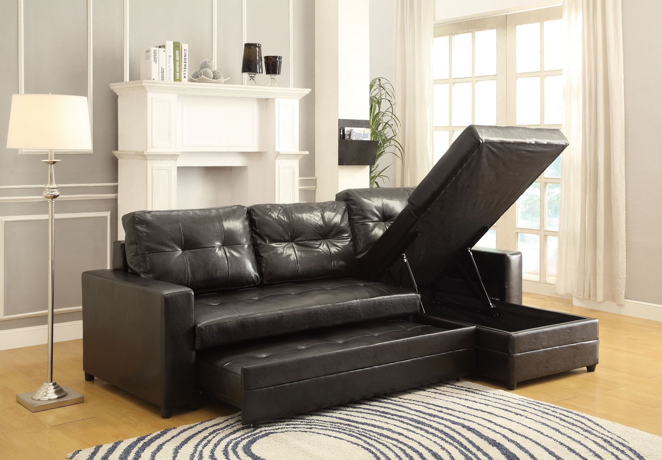 lounger sofa with pull out trundle lazy boy sleeper kemen elegant up from