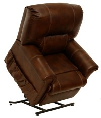 Vintage Tobacco Leather Power Lift Chair from Catnapper ...